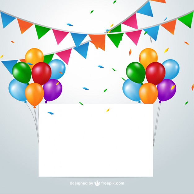 626x626 Colorful Party Decoration Free Vector 123freevectors