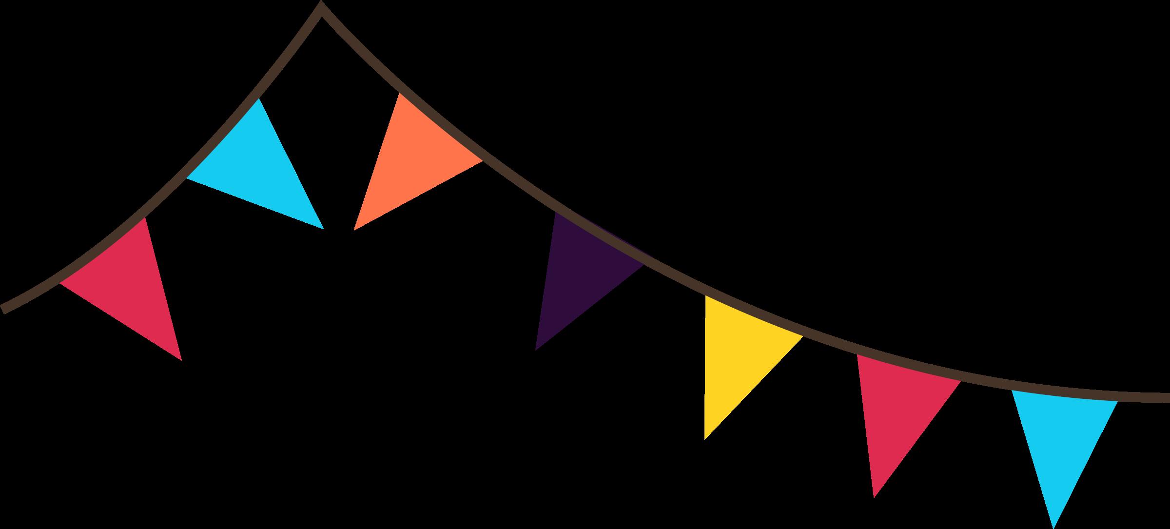 2400x1085 Decoration Clipart Party Flag