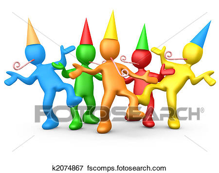 450x357 Stock Illustration Of Party People K2074867