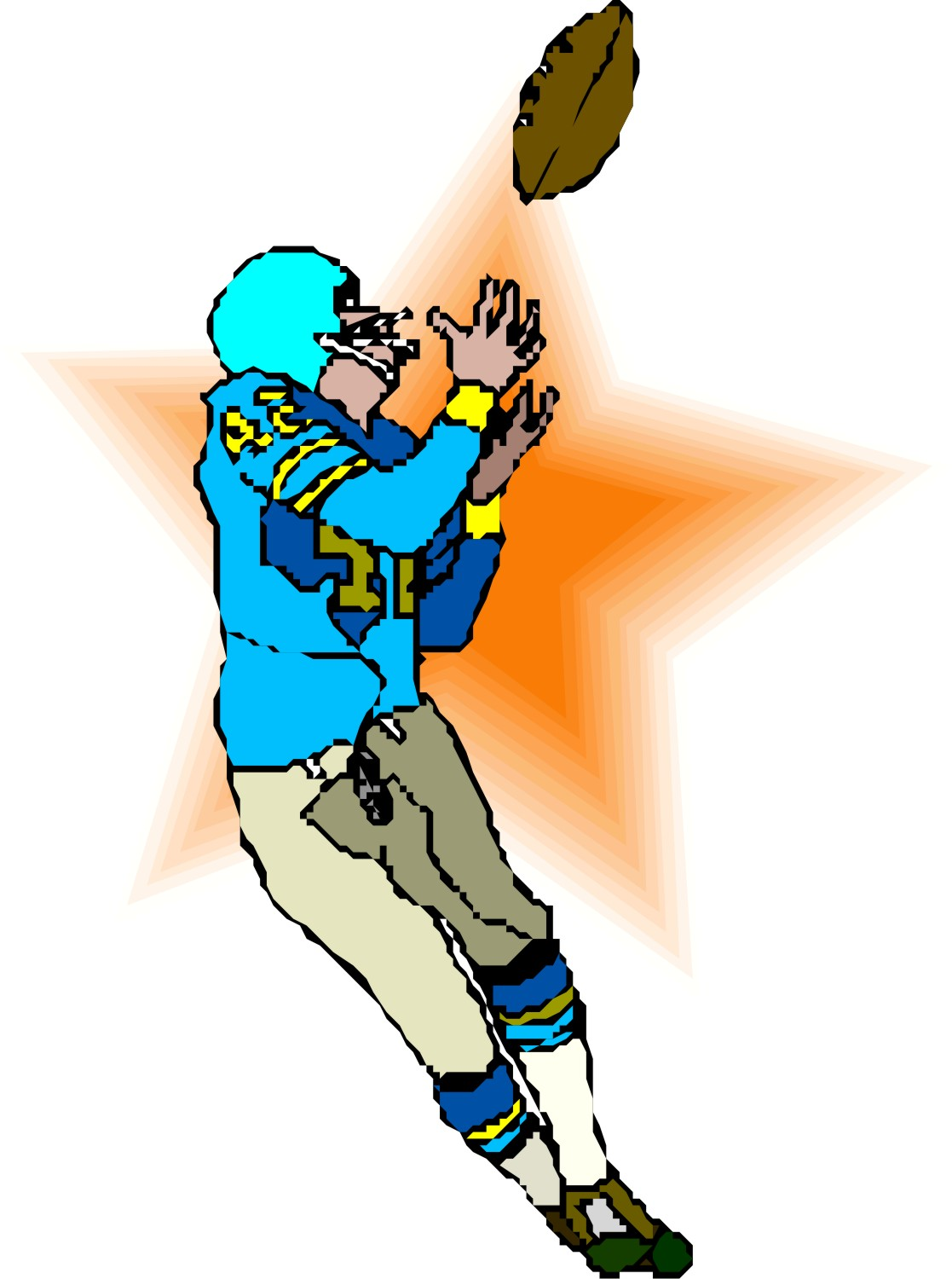 1117x1500 Receiver Clipart Football Pass
