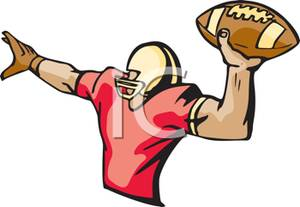 300x207 Football Clipart Football Pass