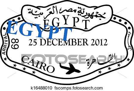 450x305 Stock Illustrations Of Egypt Passport Visa Stamp K16488010