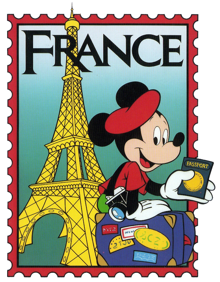 734x940 Epcot Mickey France Stamp Clip Art International Mickey Mouse