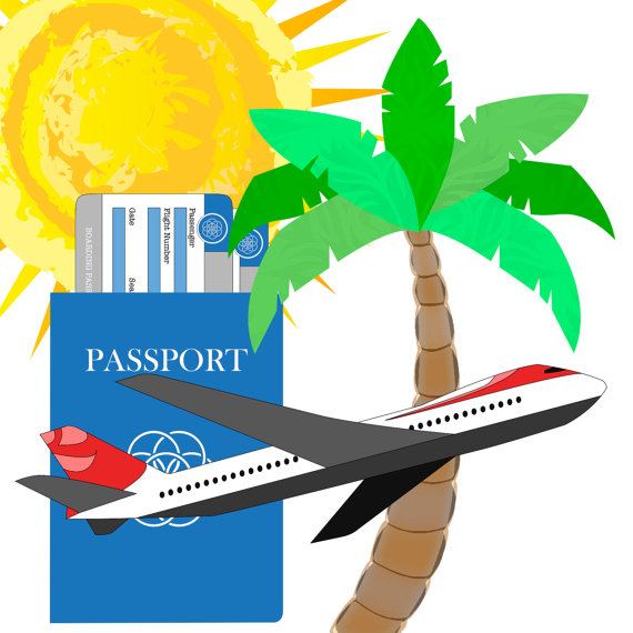 570x570 Airplane Clipart Passport