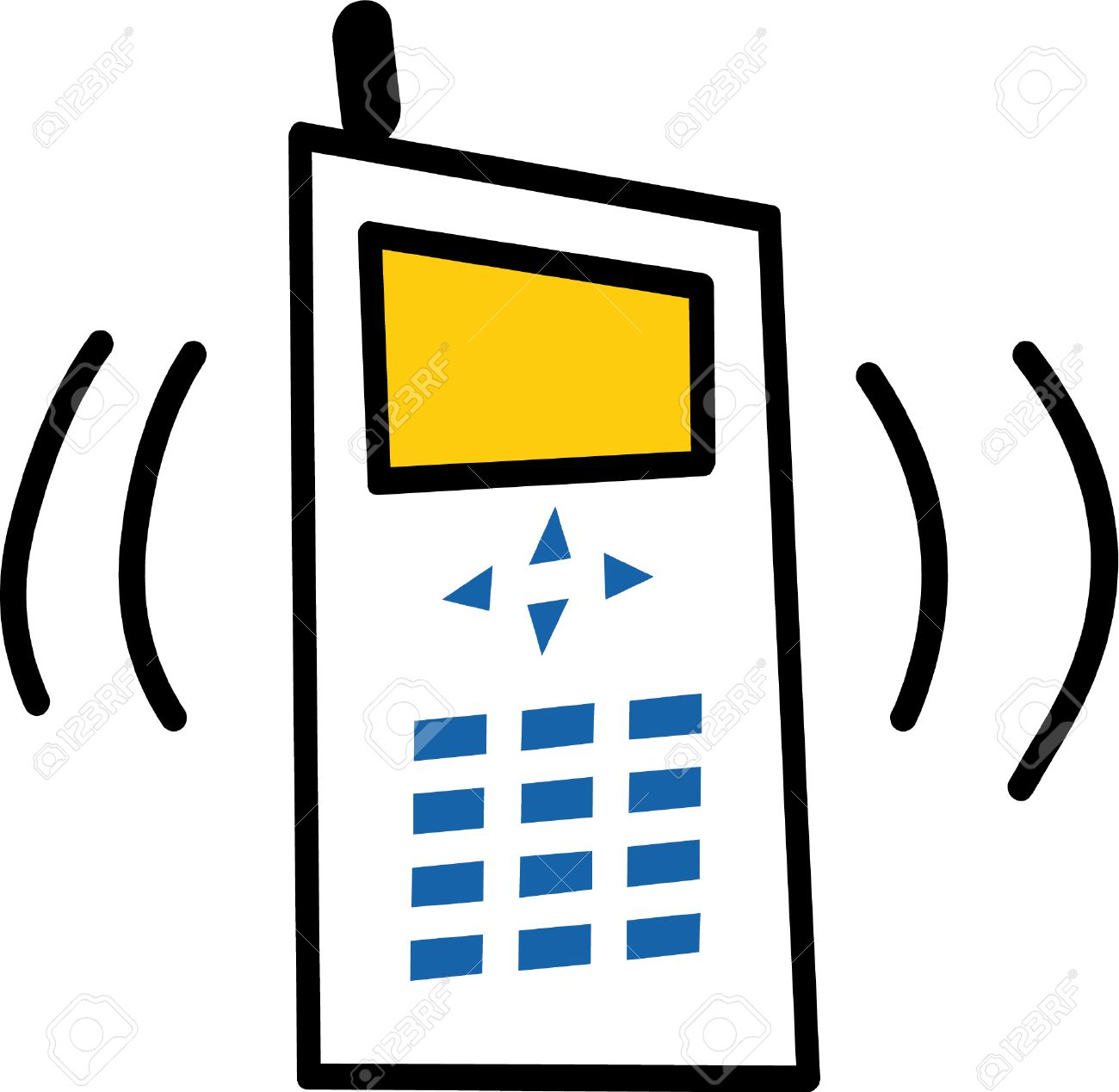 1300x1269 Clipart Phone Ringing 101 Clip Art