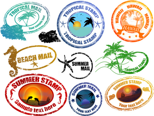 491x372 Travel Stamp Free Vector Download (2,061 Free Vector)