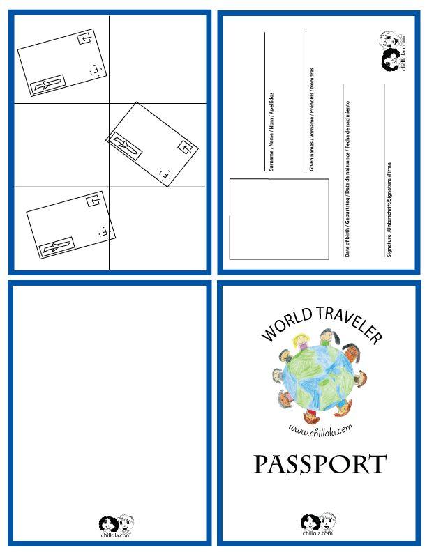 612x792 Best Passport Template Ideas Passports For Kids