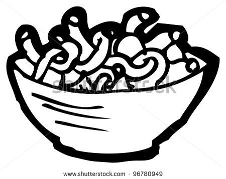 450x358 Pasta Clipart Black And White