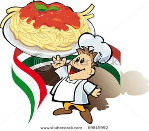 300x263 Cook With Giant Spaghetti Plate Clip Art Image
