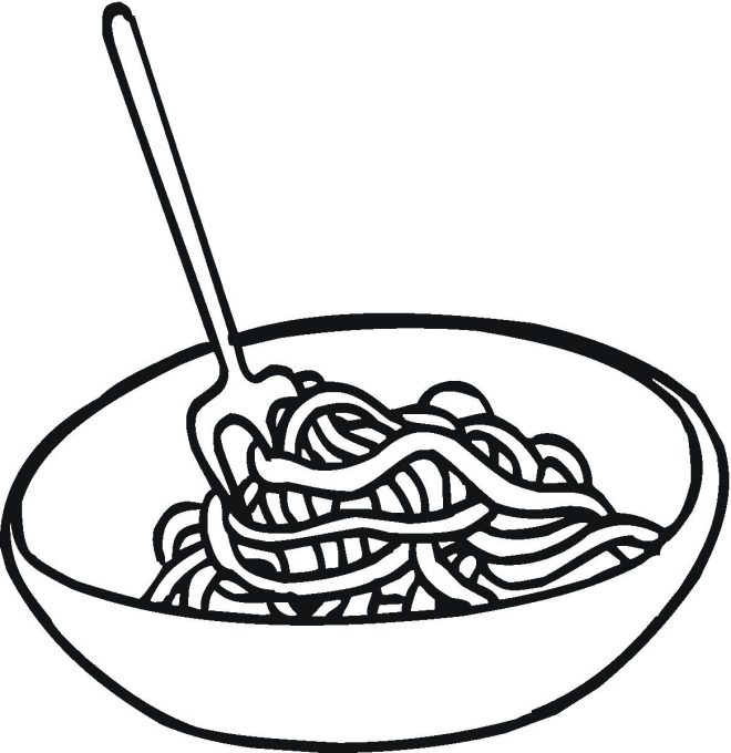 660x680 Pasta Clipart Coloring Page