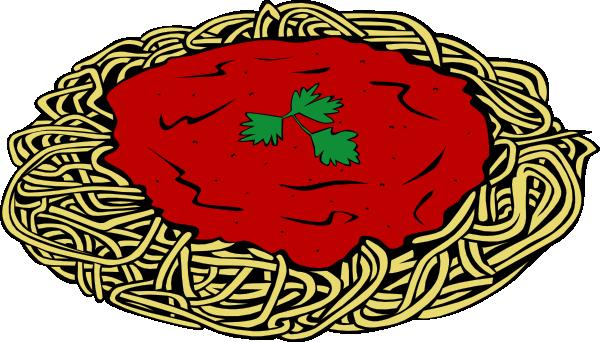 600x342 Spaghetti And Sauce Clip Art
