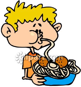 326x350 Pasta Clipart Boy Eating