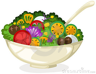 400x309 Salad Clipart