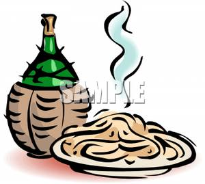 300x269 With Glass Of Wine Spaghetti Clipart, Explore Pictures