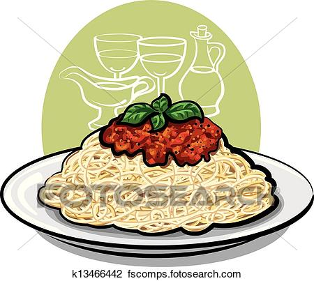 450x403 Clipart Of Spaghetti Bolognese K13466442