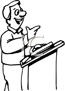 252x350 Royalty Free Preacher Clip Art, Occupations Clipart