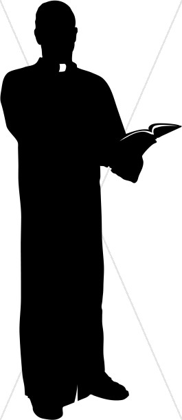 265x612 Pastor Silhouette Clipart Images
