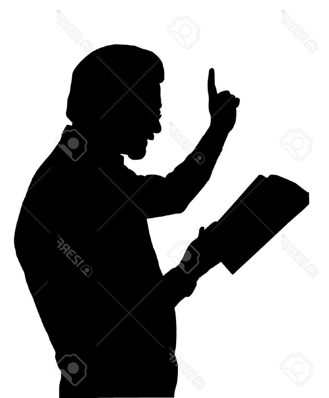 1075x1300 Best People Silhouette Clipart Pastor Preaching Library