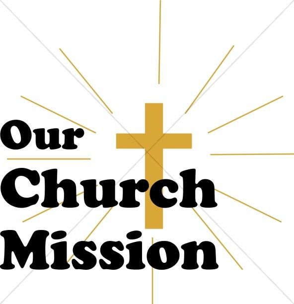 592x612 Installation Over Budded Cross Church Word Art