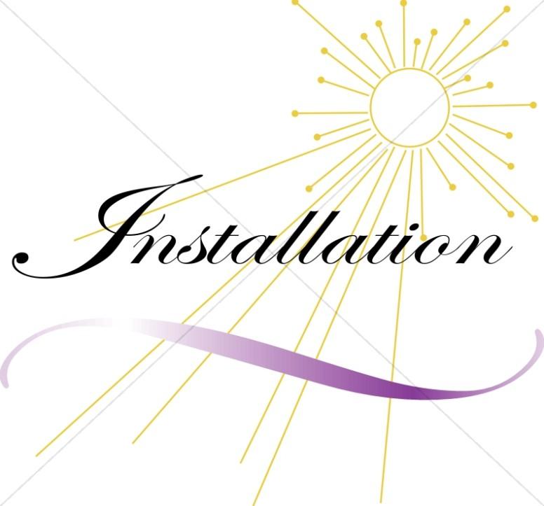 776x723 Abstract Sun Behind Installation Church Word Art