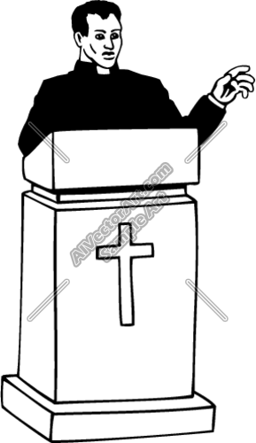 289x500 Preaching Clipart