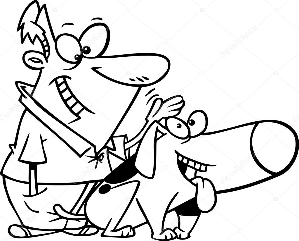 1024x824 Cartoon Dog Pat Stock Vector Ronleishman