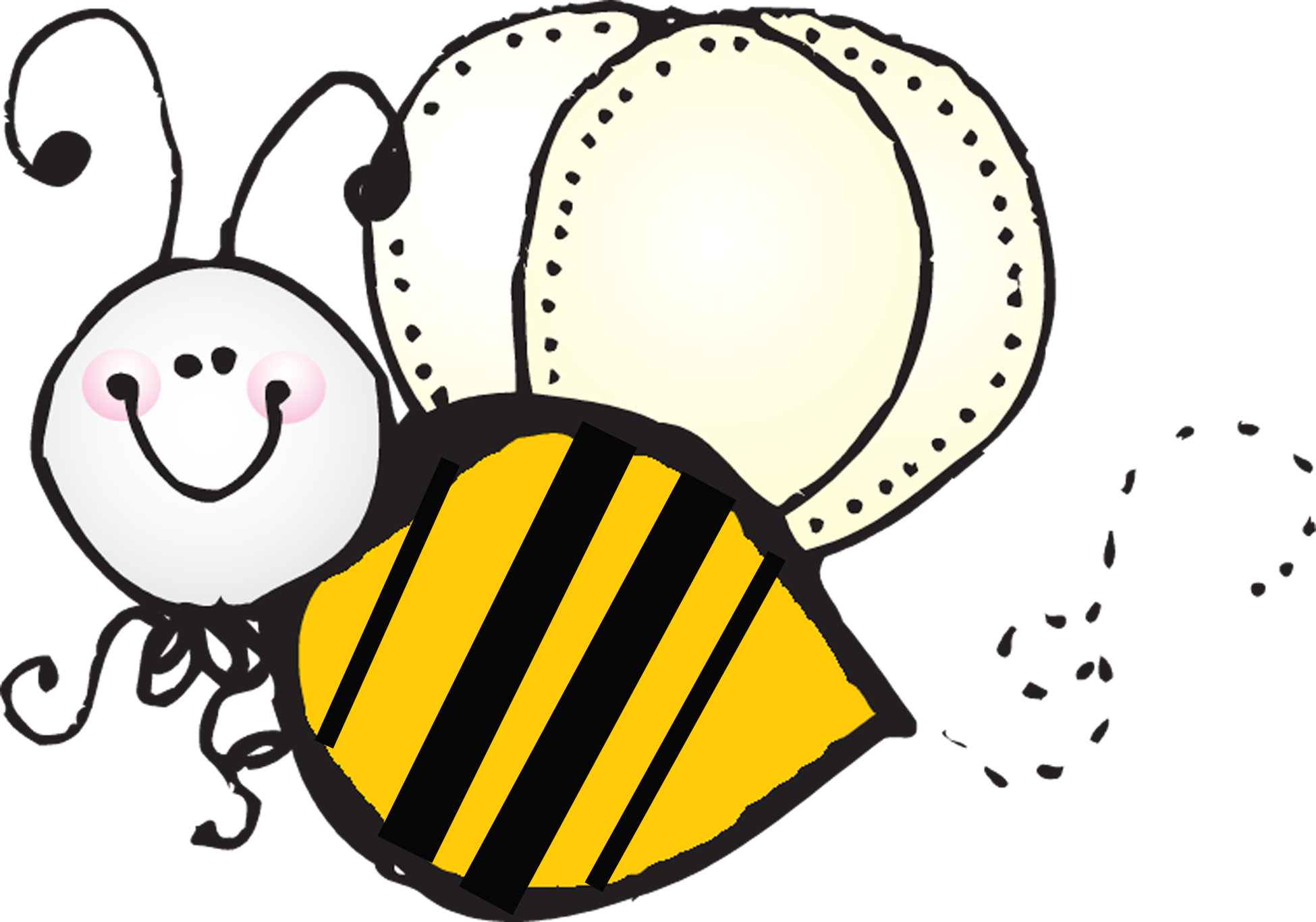 1950x1366 Bee Clipart Path