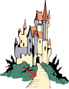 231x297 Path To Castle Clip Art