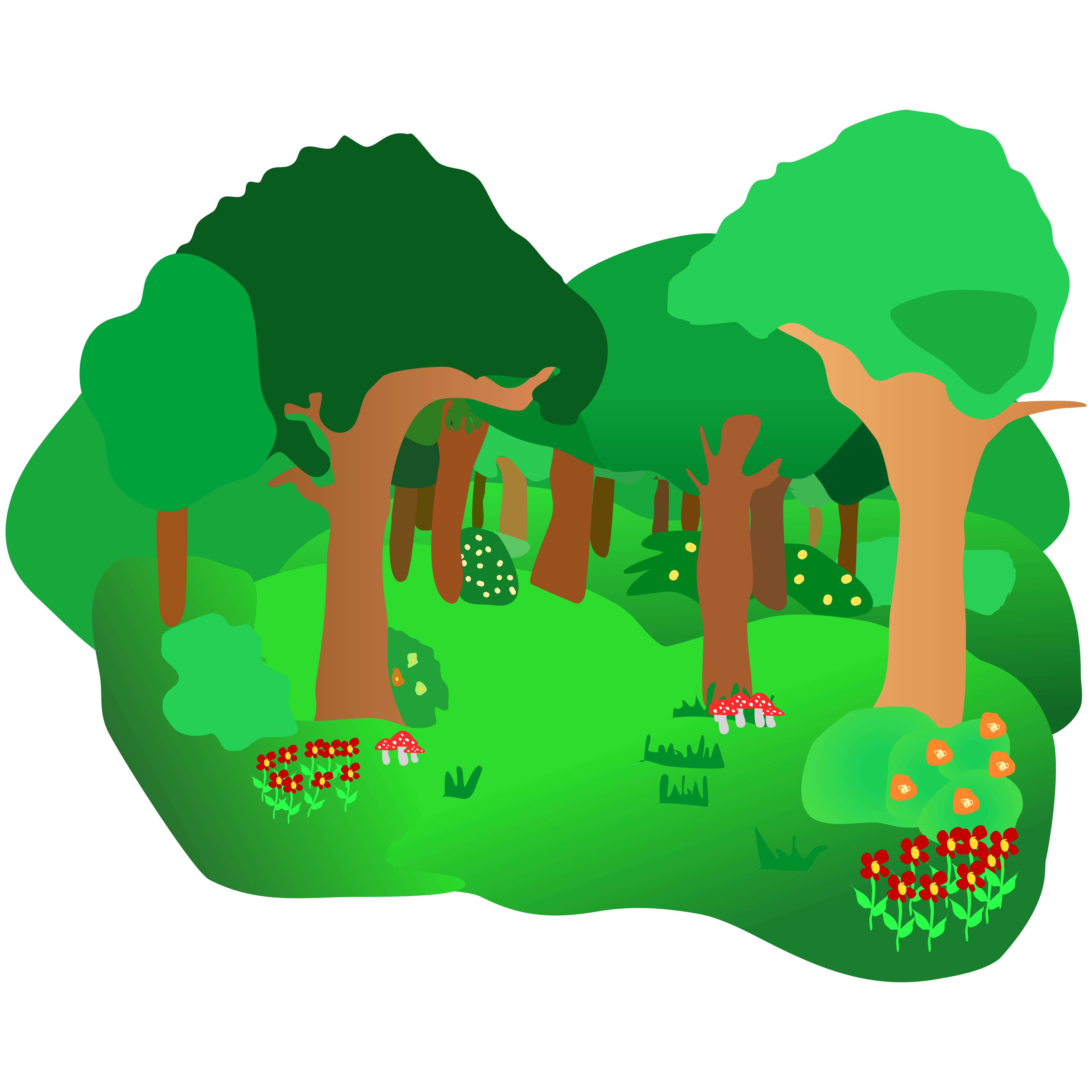 5204x5204 Clipart Forest Many Interesting Cliparts