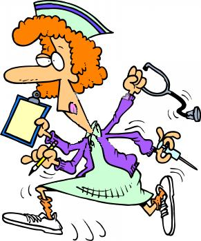 291x350 Funny Nurse Clipart