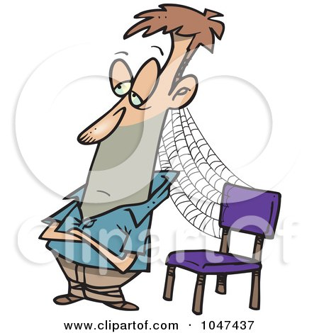450x470 Royalty Free (Rf) Clip Art Illustration Of A Cartoon Patient Man