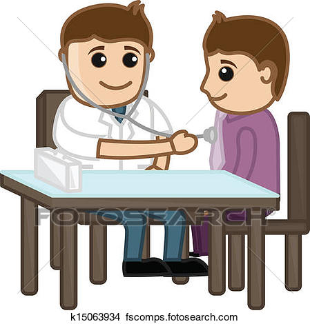 449x470 Clipart Of Doctor Check Up Patient K15063934