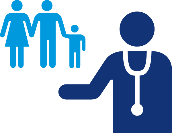 600x463 Doctor And Patient Blue Clip Art