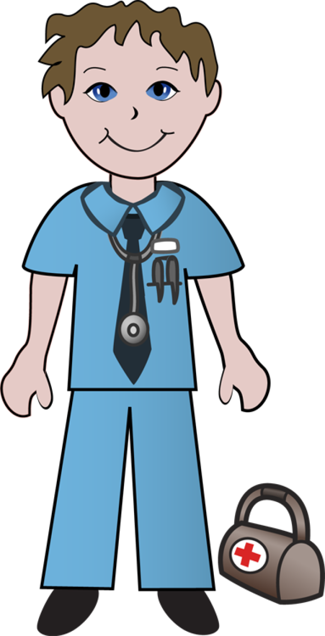 640x1253 Girl Doctor With Patient Clipart 2