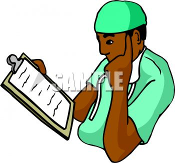 350x326 African American Doctor Studying A Patient Chart