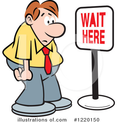 400x420 Waiting With Clock Clipart