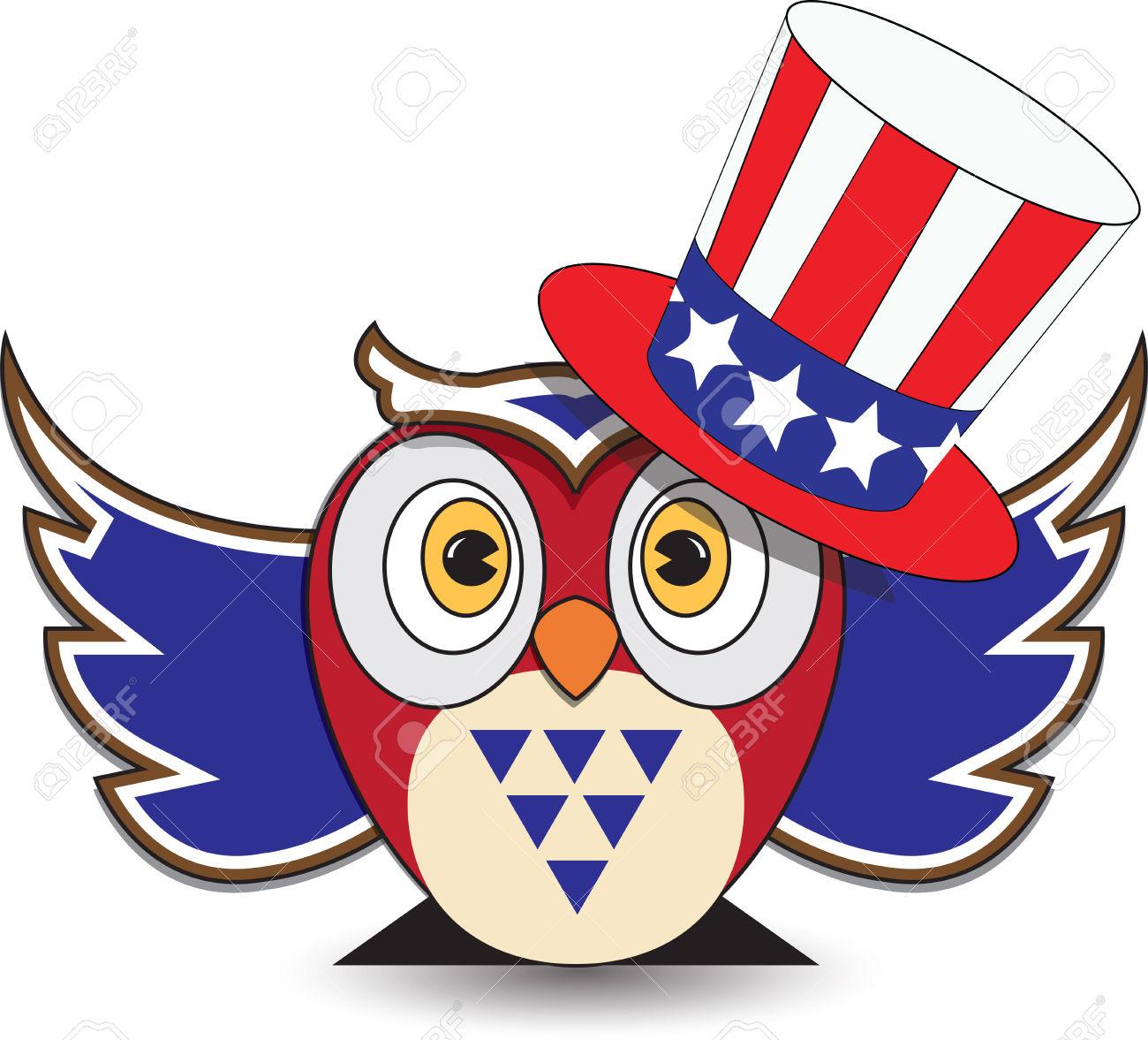 1300x1177 Owl Clipart Patriotic