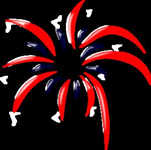 300x297 Patriotic Fireworks Clipart