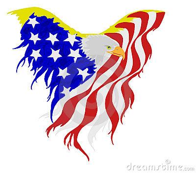 400x353 Clipart Eagle Patriotic