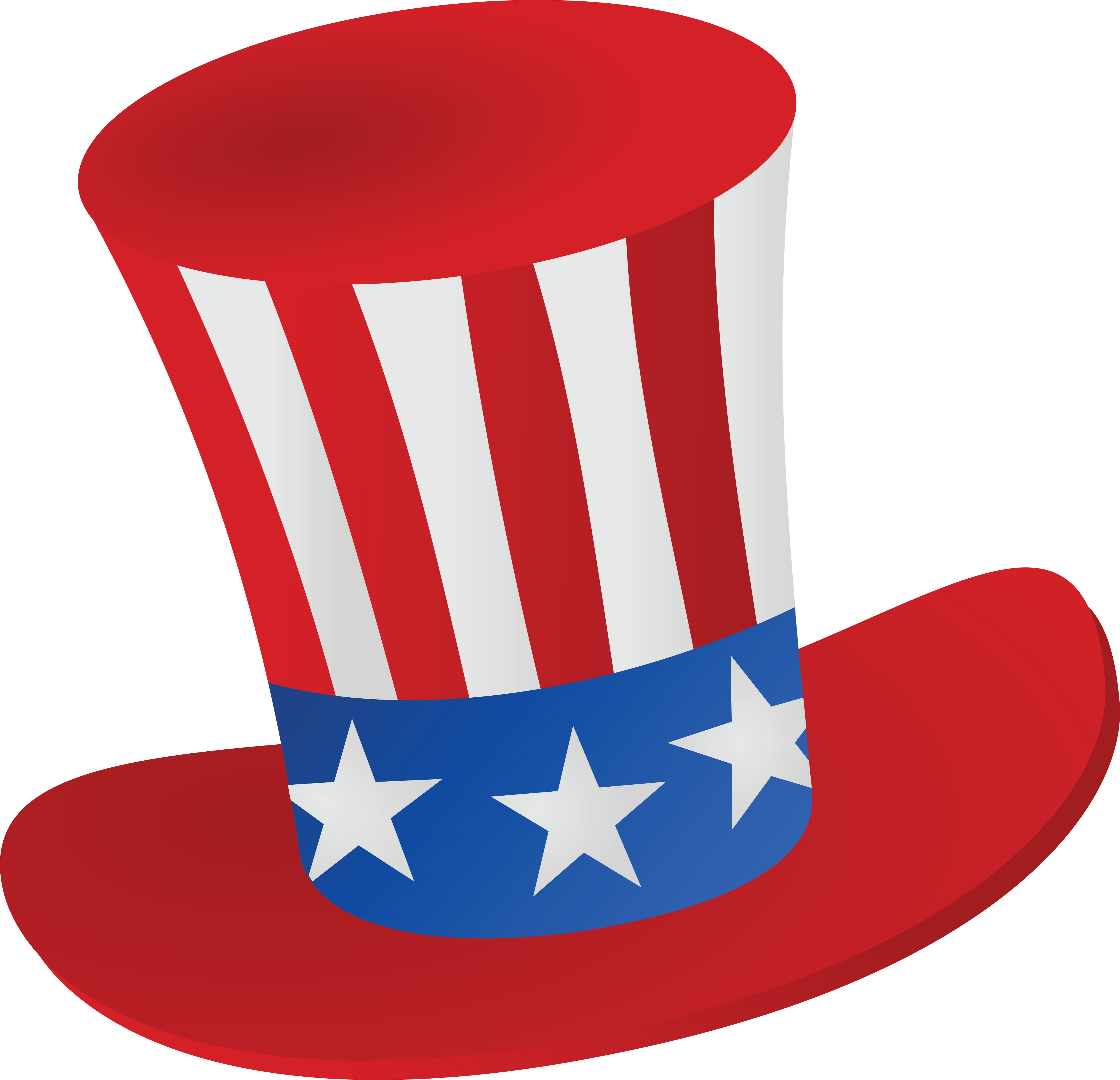 4000x3858 Free Clipart Of A Patriotic American Top Hat