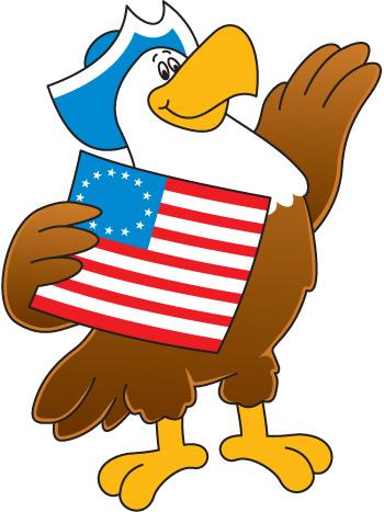 350x467 Patriotic Eagle Clipart