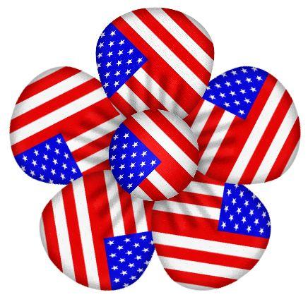 436x421 Patriotic Usa Flag Flower Decor Clipart July 4th Clip Art