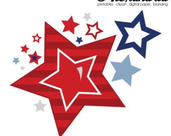 340x270 Star Clipart 4th July