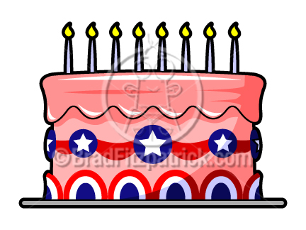 432x324 Patriotic Cake Clip Art 4th Of July Cake Clipart Cartooon