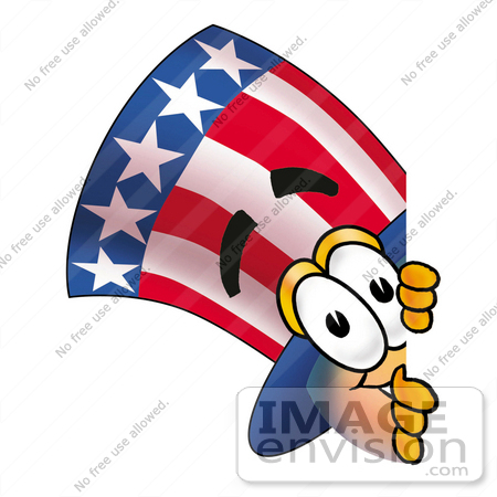 450x450 Clip Art Graphic Of A Patriotic Uncle Sam Character Peeking Around