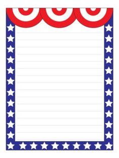 Patriotic Page Borders