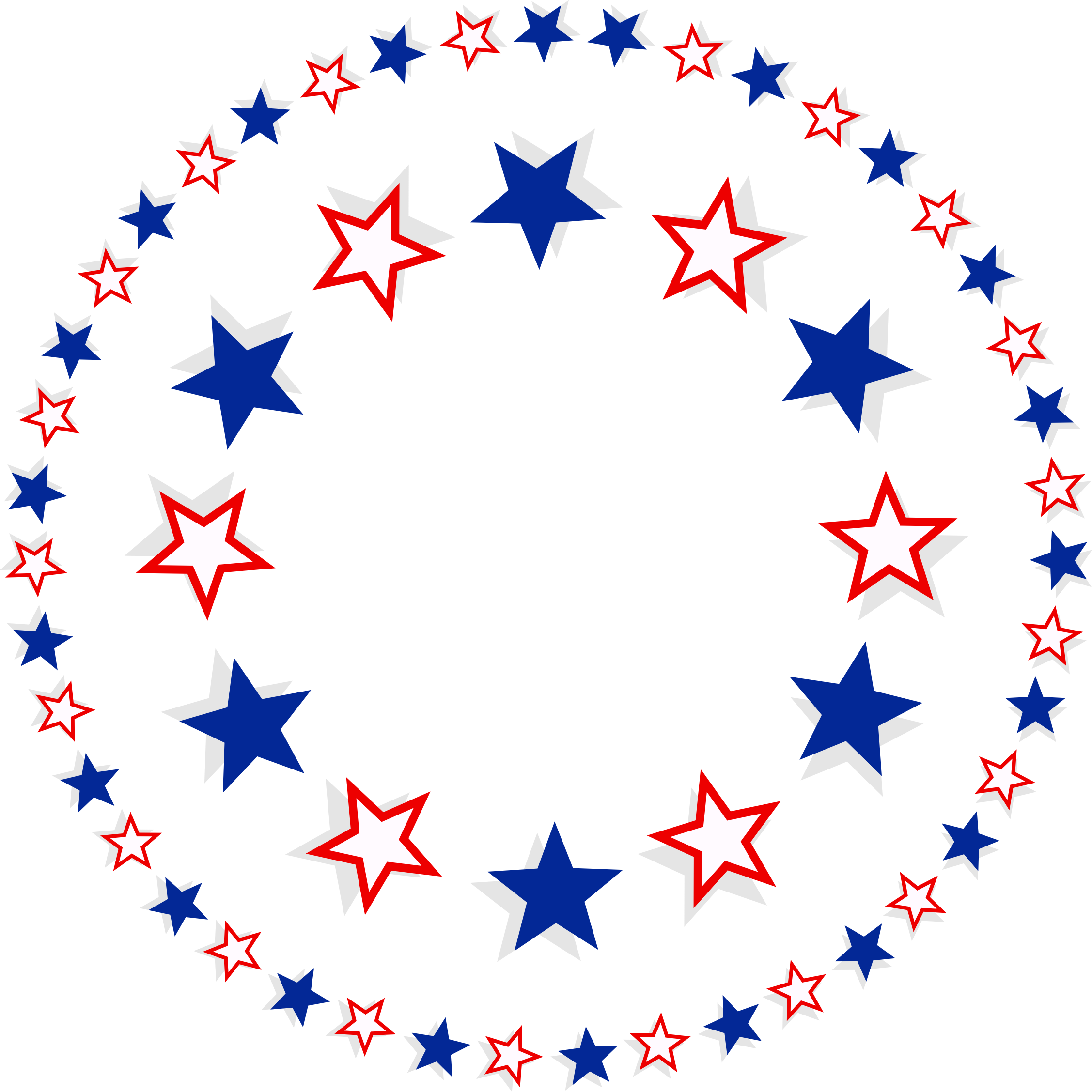 2254x2255 Clipart Patriotic Stars