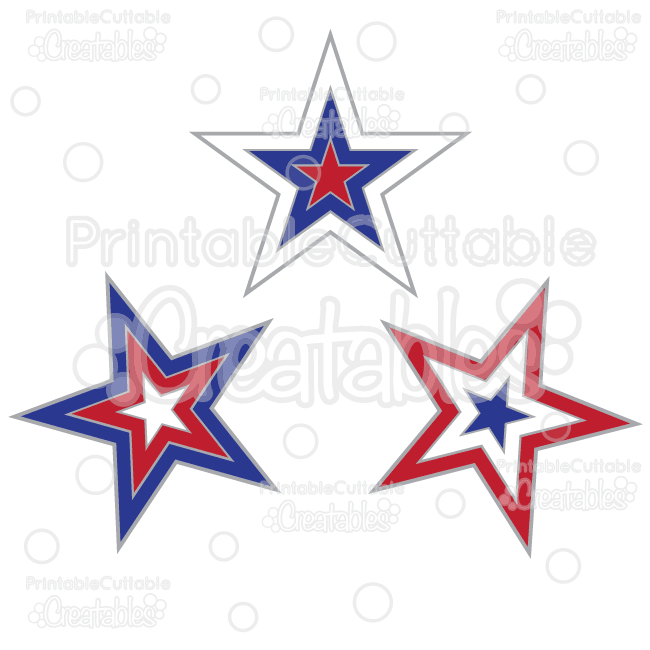 650x650 Patriotic Stars Free Svg Cut Files Amp Clipart
