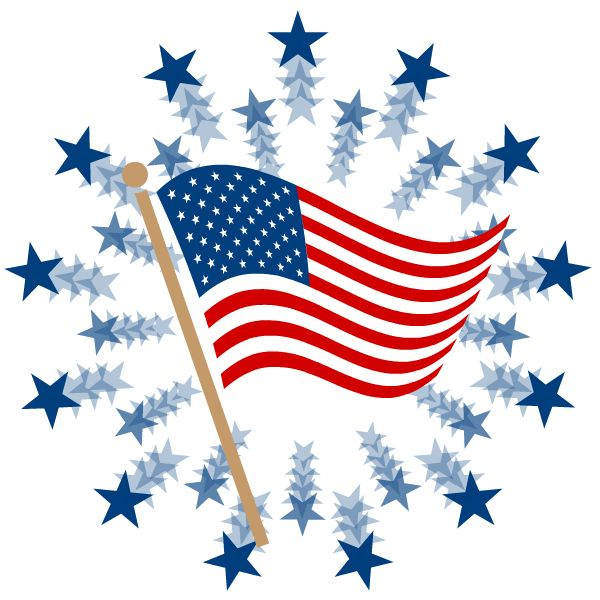 4th of july patriotic. Stars clipart free download