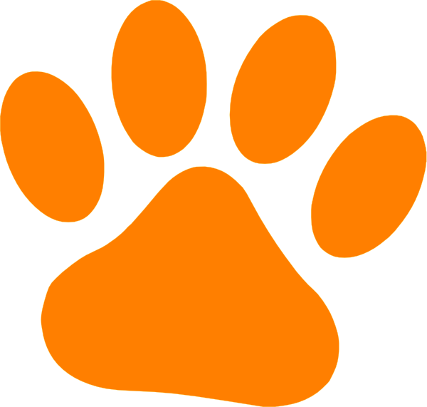 600x571 Orange Cat Paw Clip Art